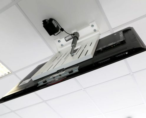 MonLines electrical ceiling lift, mMotion Flip white back