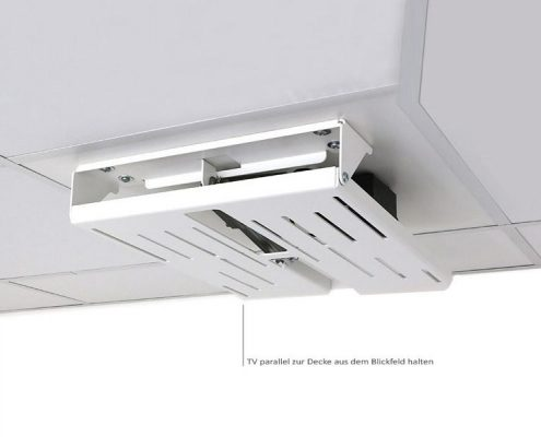 MonLines electric ceiling lift, mMotion Flip white folded in