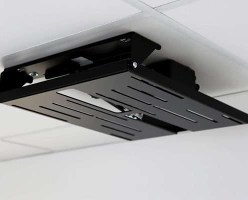 MonLines electric ceiling lift, mMotion Flip black folded in