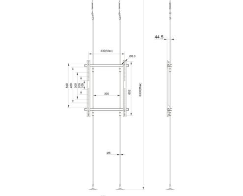 MonLines MDH011 Technische Zeichnung