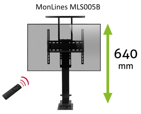 MonLines MLS005B myTVLift hidden TV Lift