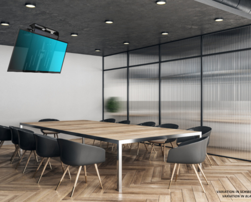 MonLines electric ceiling lift, mMotion Flip black, application sample meeting room