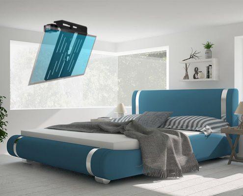 MonLines electric ceiling lift, mMotion Flip black, application sample bedroom