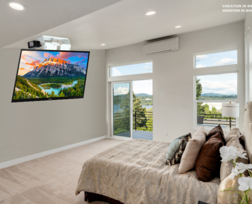 MonLines electric ceiling lift, mMotion Flip white, application sample bedroom