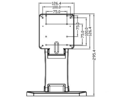 MonLines MTS700B Touchscreen Tisch Monitorständer, Maße