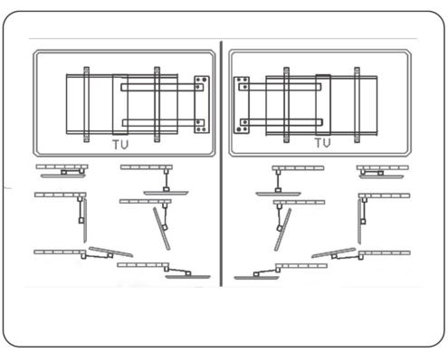MonLines mySwing MSM05 elektrische TV Wandhalterung 50-70 Zoll, schwarz, Installation links / rechts