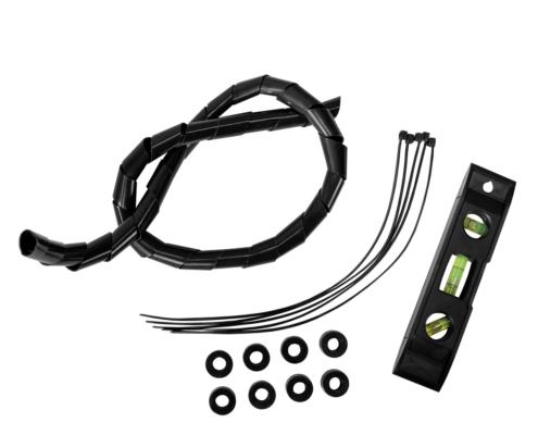 MonLines mySwing MSM05 elektrische TV Wandhalterung 50-70 Zoll, schwarz, Lieferumfang