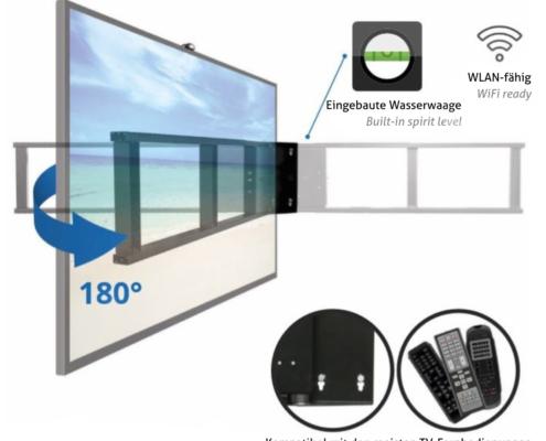 MonLines mySwing MSM06 elektrische TV Wandhalterung bis 65 Zoll, Features