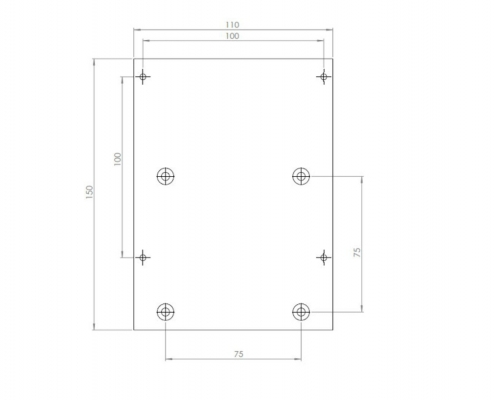 MonLines V008 VESA adapter for Samsung S24F356F technical drawing