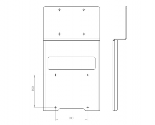 MonLines V014 VESA adapter for Samsung U28E590D technical drawing