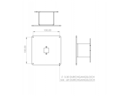 MonLines V034 VESA adapter for Samsung C27H711 / C32H711 technical drawing