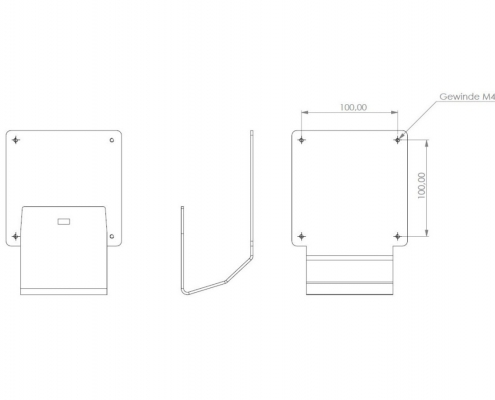 MonLines V055 VESA adapter for Samsung T240 / T260 technical drawing