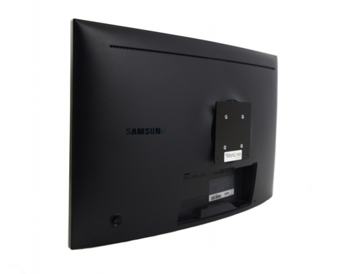 MonLines V066 VESA adapter for Samsung LC27HG70 in use, side view