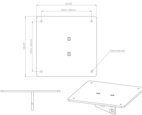 VESA Adapter für Samsung C34F791