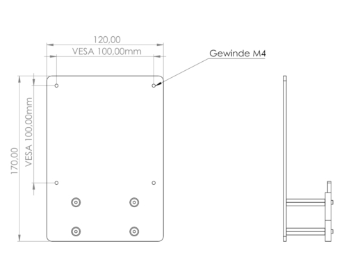 MonLines V074 VESA Adapter für Samsung C32T550FD, C27T55