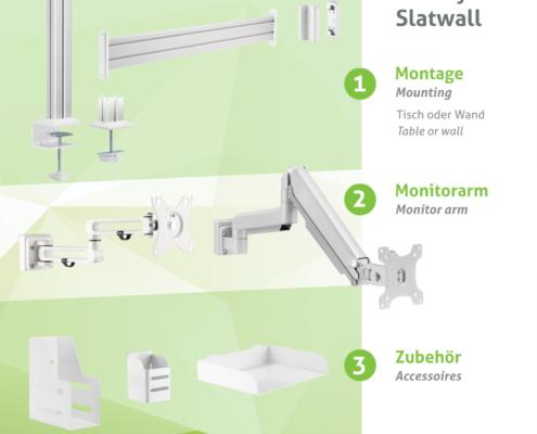 Umfang MonLines Slatwall Produkte