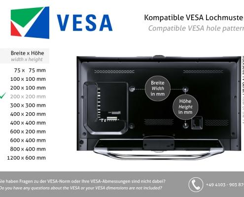 VESA standard 200 x 200